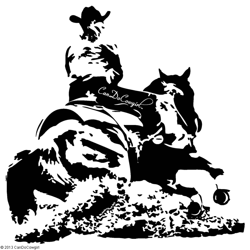 52 Quot Horse And Rider Vinyl Decal Candocowgirl