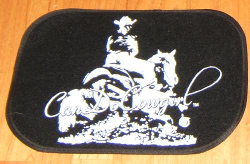 Black Upholstered Floor Mats (Rear)